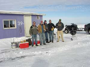 Ice Fishing at Brand'ts Ice Fishing
